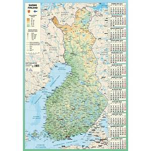 Ajasto Karttakalenteri seinäkalenteri 2021 590 x 850 mm