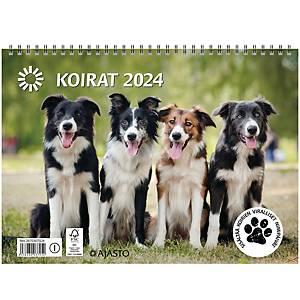 Ajasto Koirat seinäkalenteri 2021 290 x 420 mm