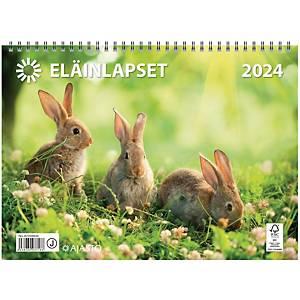 Ajasto Eläinlapset seinäkalenteri 2021 290 x 420 mm