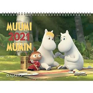 Ajasto Muumi seinäkalenteri 2021 290 x 420 mm
