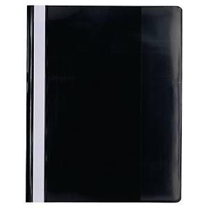 Schnellhefter Premium, A4, aus PVC-Folie, schwarz, 10 Stück