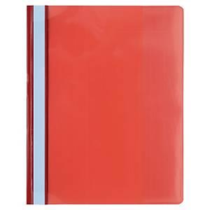 Nezávesný prezentačný rýchloviazač PP Exacompta červený, balenie 10 kusov