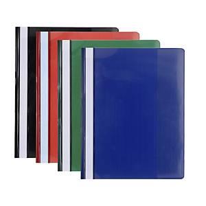 Exacompta panorámás nem lefűzhető gyorsfűző, vegyes színek, 20 darab/csomag
