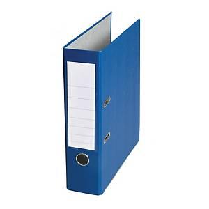 Pákový pořadač, poloplastový, šířka hřbetu 8 cm, modrý