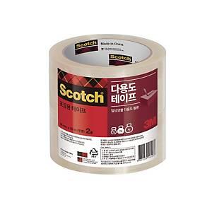3M 스카치 포장용 테이프 3615-2 투명 (48mm X 50M X 2롤)