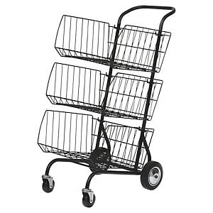 Alba postroom kart with 3 compartments