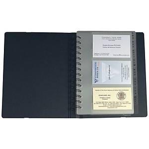 Poch. cartes de visite Exacompta Exacard 75034E 148x202 mm,Index A-Z, noir