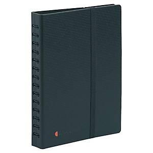 Visitenkartenbuch Exacompta 75034E, für 120 Karten, Maße: 20x15cm, schwarz