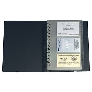 Exacompta Exactive Exacard Business Card Holder, 120 Card, 20x14.5cm, Black
