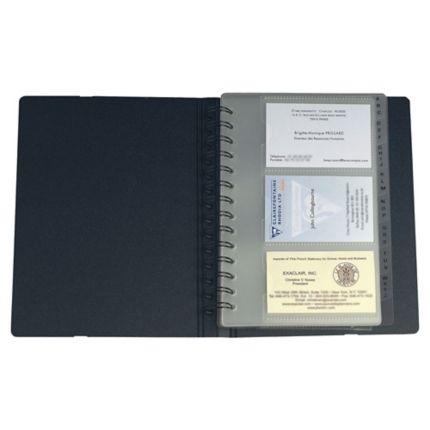 Exacard Carnet Cartes De Visite Pour 120 Noir