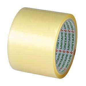 UNITAPE เทปปิดกล่อง OPP กาวยางธรรมชาติ 3 นิ้ว X 45 หลา แกน 3 นิ้ว สีใส