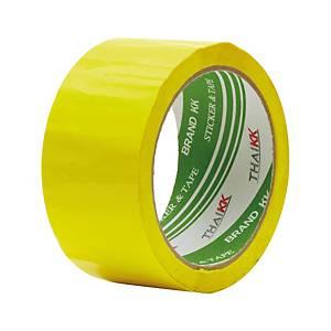 THAI KK เทปปิดกล่อง OPP กาวอะคริลิค 2 นิ้ว X 50 หลา แกน 3 นิ้ว เหลือง
