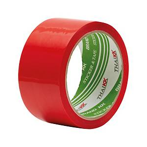 THAI KK OPP PACKAGING TAPE ACRYLIC ADHESIVE SIZE 2  X 50 YARDS CORE 3  RED