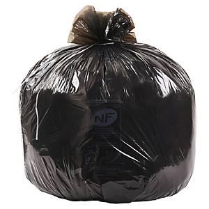 Sac poubelle économique - 100 L - 20 microns - noir - 500 sacs