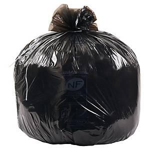 Sac poubelle économique - 130 L - 24 microns - noir - 200 sacs
