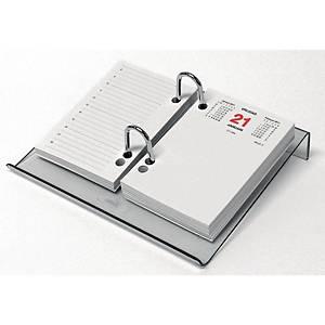 Design plankje met 2 ringen voor memoblok, PVC, transparant blauw