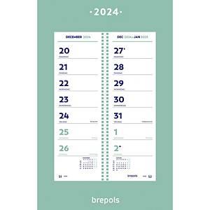 Brepols omlegkalender met telkens 2 weken, Nederlandstalig
