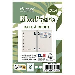 Bloc éphéméride recyclé Bloc-Pratic Exacompta - 2021 - date à droite