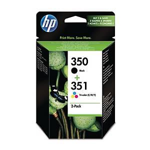 HP 350 Black/351 Tri-Colour 2-Pack Original Ink Cartridges (SD412EE)