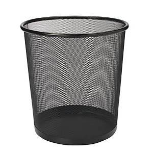 Mesh Metal Waste Bin Black 295 X 240 X 343mm