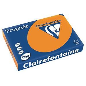 Papier Trophée 1763 A4, 120 g/m2, orange vif, paq. 250feuilles