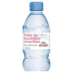 Evian Mineral Water, Still, Pack of 24x0.33l
