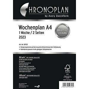 Wochenplan 2020 Chronoplan 50700, 1 Woche / 2 Seiten, A4