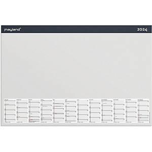 Skriveunderlag med kalender Mayland 1370 00, år, 2020, 20 blade, 60 x 40 cm