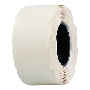 Etykiety do metkownic 26 x 16 mm, białe, falowane, rolka 700 sztuk
