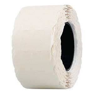 Etykiety do metkownic 26 x 12 mm, białe, falowane, rolka 800 sztuk