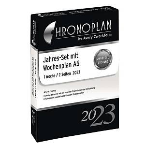 Jahresset 2020 Chronoplan 50290, 1 Woche / 2 Seiten, A5
