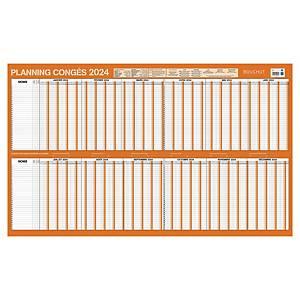 Planning annuel congés et absences Bouchut - 2021 - 60 x 99 cm
