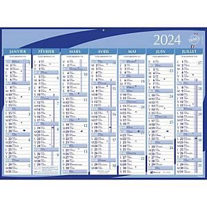 Calendrier Lyreco - grand modèle - 7 mois/face - 40,5 x 55 cm - bleu