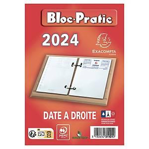 Bloc éphéméride Exacompta Bloc-Pratic - 2021 - date à droite