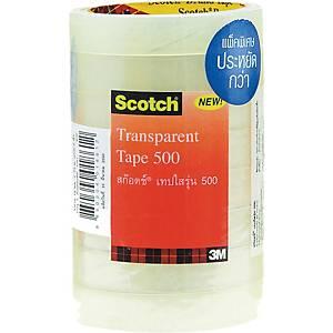 SCOTCH เทปใสรุ่น5003/4นิ้วx36หลา แกน3นิ้ว แพ็ค 8 ม้วน