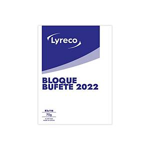 Bloc buffet Lyreco Autonómico - 85x110 mm