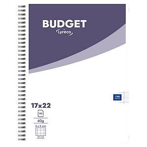 Cahier spirale Lyreco Budget 17 x 22 cm - 180 pages - quadrillé