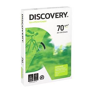 Papier A4 blanc écologique Discovery, 70 g, la boîte de 5 x 500 feuilles
