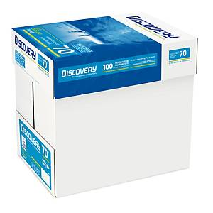Caixa 5 resmas de 500 folhas de papel Discovery Eco Efficient - A4 - 70 g/m²