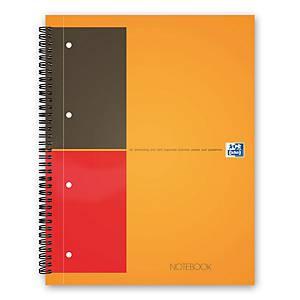 Oxford International A4+ Hardback Wirebound Notebook Smart Ruled 160 Page Orange