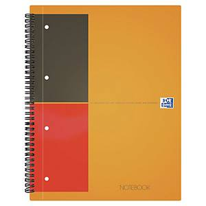 Oxford International A4+ H/Back Wirebound Notebook Smart Ruled 160 Pages Orange