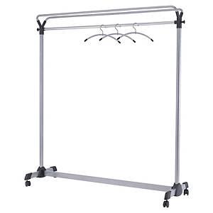 Garderobenständer Alba Metall, grau