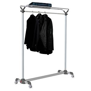 Alba mobile coat rack 170x150x50cm grey