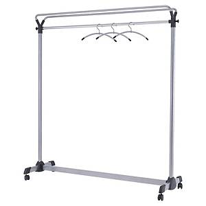 Alba Mobile Coat Rack 170x150x50cm Metallic Grey