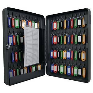 Boîte à clés Pavo, 80 crochets, serrure à cylindre, anthracite