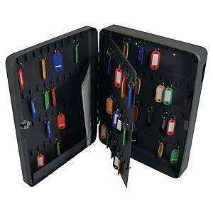 Pavo kovová skříňka na 140 klíčů, antracitová
