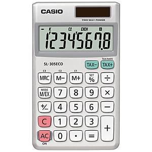 Casio SL-305 ECO taskulaskin 8 numeron näyttö