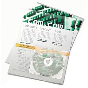 Pochette adhésive 3L Office pour Cd et Dvd, le paquet de 10 pochettes