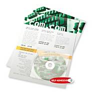 CD-lomme 3L, med klaff, pakke à 10 stk.