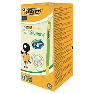 Porte-mine jetable Bic® Matic Ecolutions, HB, 0,7 mm, la boîte de 50 crayons